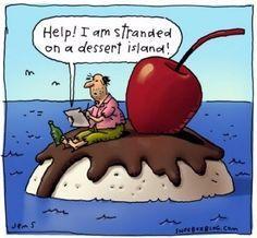 Never desert your dessert in the desert!