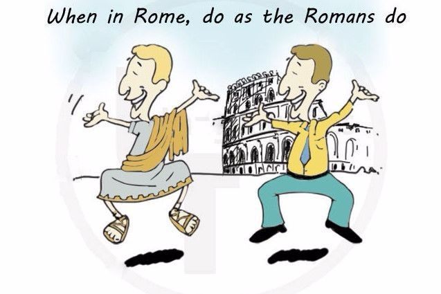 "English proverbs in songs – ""When in Rome"""