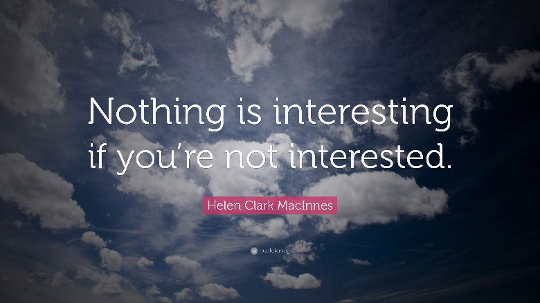 'interested' or 'interesting'?